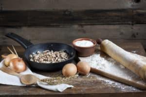 Vorbereitungen Essen braten