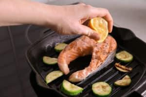 Fisch in AMT Grillpfanne