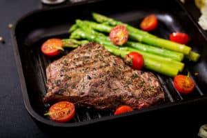 Culinario Grillpfanne mit Gemüse und Steak