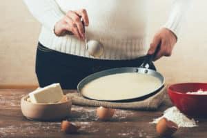 Frische Pancakes zubereiten