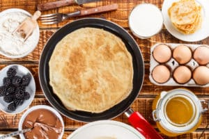Zutaten für fluffige Pancakes