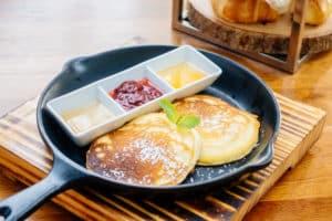 Leckere Pancakes zum Frühstück